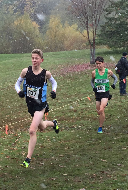 Cooper Langard finishes 10th at Senior Boys Provincial Cross Country Race