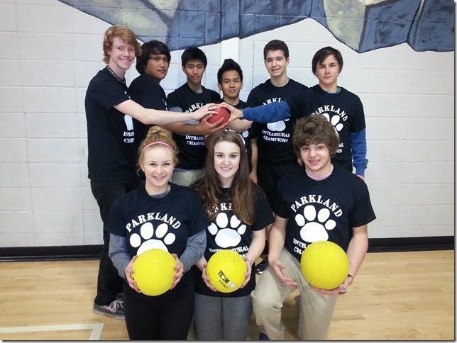 Winning dodgeball team 1
