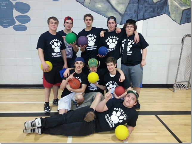Winning dodgeball team 2