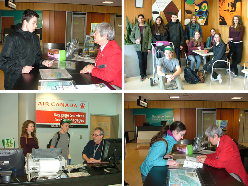 Parkland French 10 class visits the Victoria International Airport