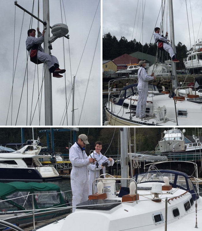 Thomas Bennett Re-Rigging Ontario 32 Boat