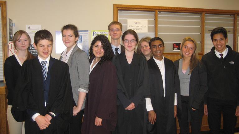 Parkland Mock Trial team group photo