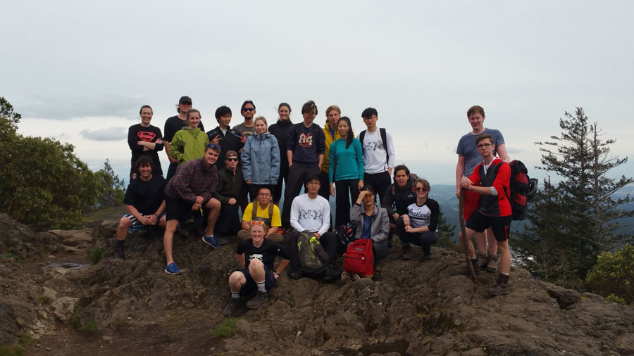 Group photo of Parkland's Outdoor Education 12 class