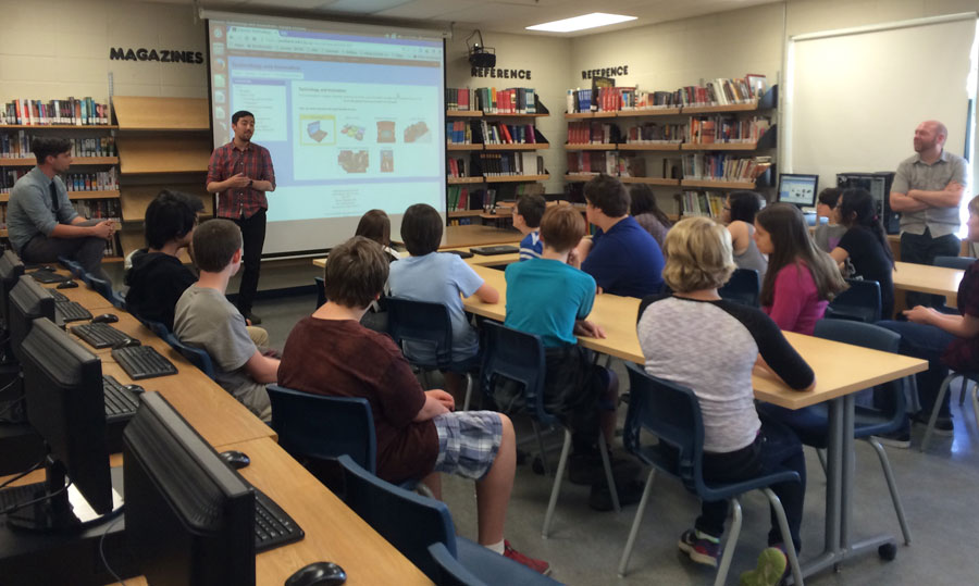grade 8 students experience Parkland technology and innovation