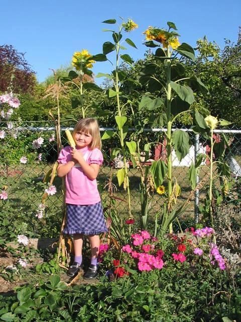 Student in the garden