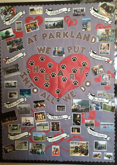 Parkland photo wall