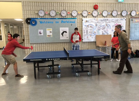 Ping Pong at lunch