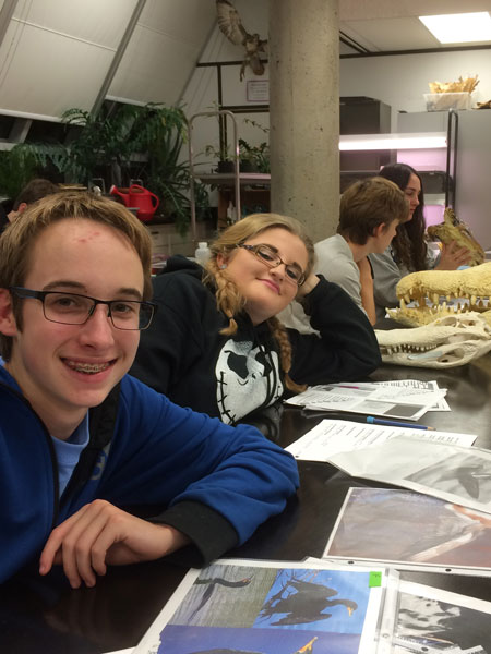 Marine Biology 11 students hands-on learning in class at Camosun