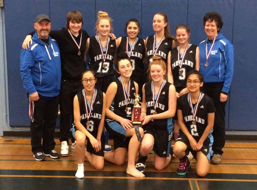 Parkland Senior Girls BBall Team take 3rd Place at the 32-team Vancouver Island Christmas Tournament!