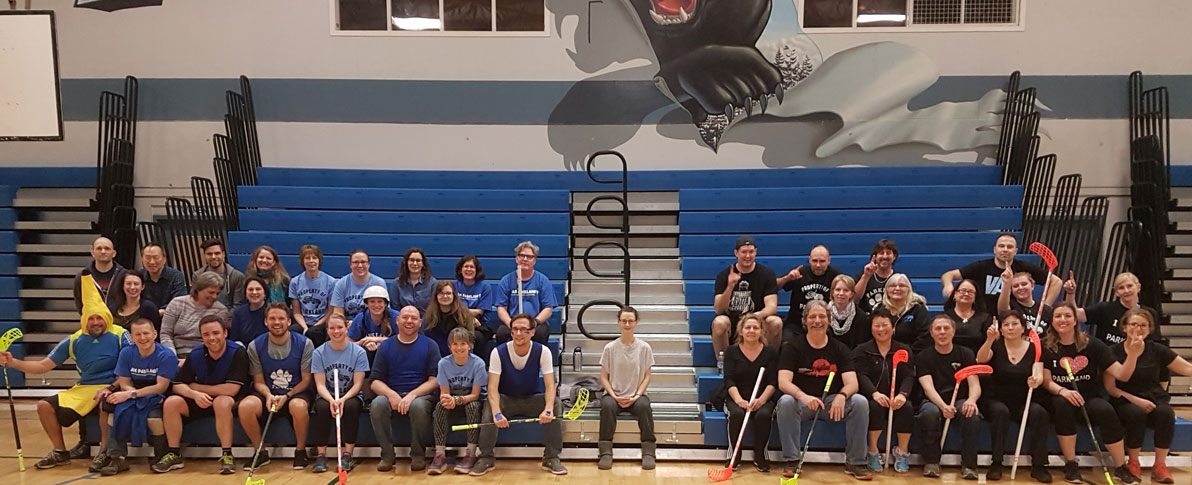 Parkland Floorball staff group photo