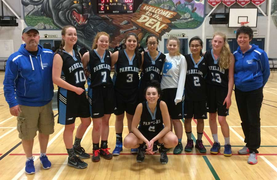 Parkland Sr. Girls Basketball Wins AA Playoff Tournament