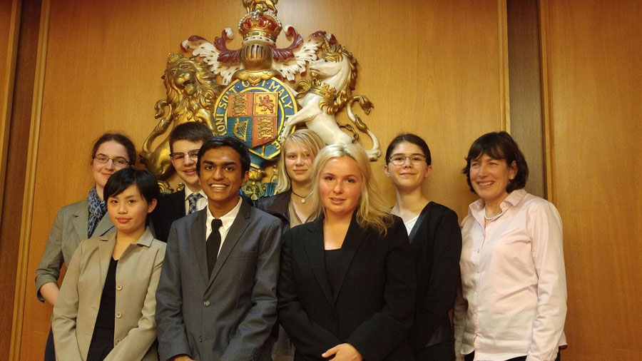 Parkland students at a Mock Trial at the Victoria Law Courts