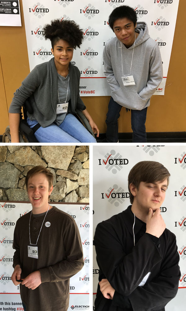 Parkland students working for Youth at the Booth in BC Election!