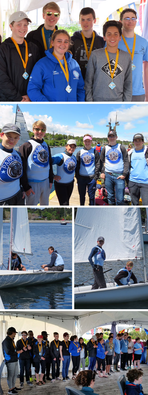 Parkland sailing team takes first place