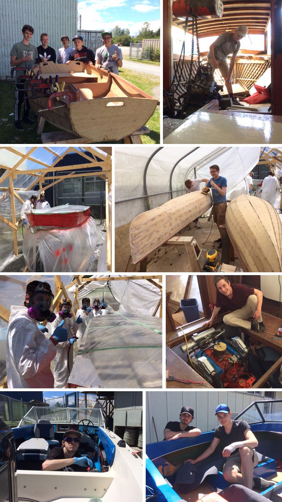 Marine Repair students working hard at Parkland