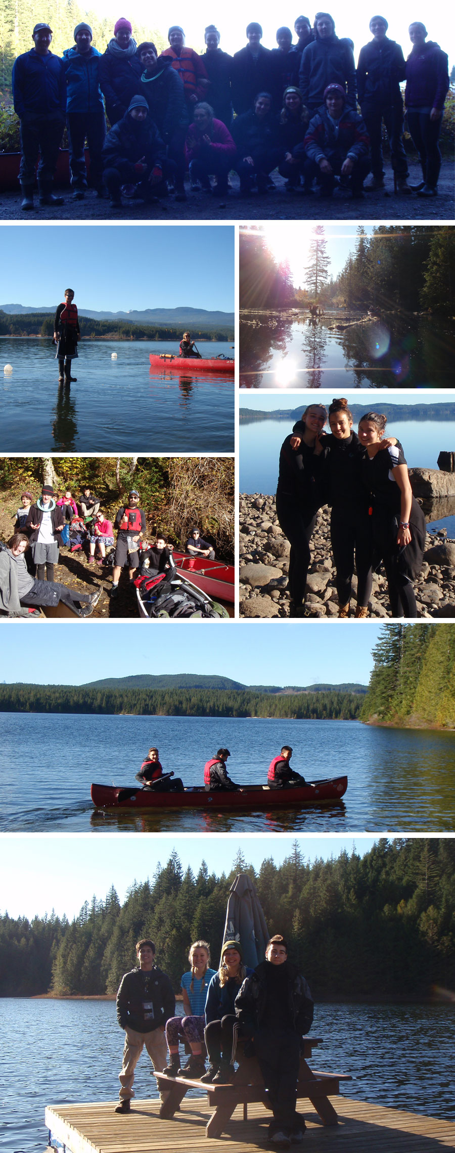 The Parkland Outdoor Ed 11 class enjoyed beautiful weather on their annual Sayward Lakes Canoe Route Trip this October.
