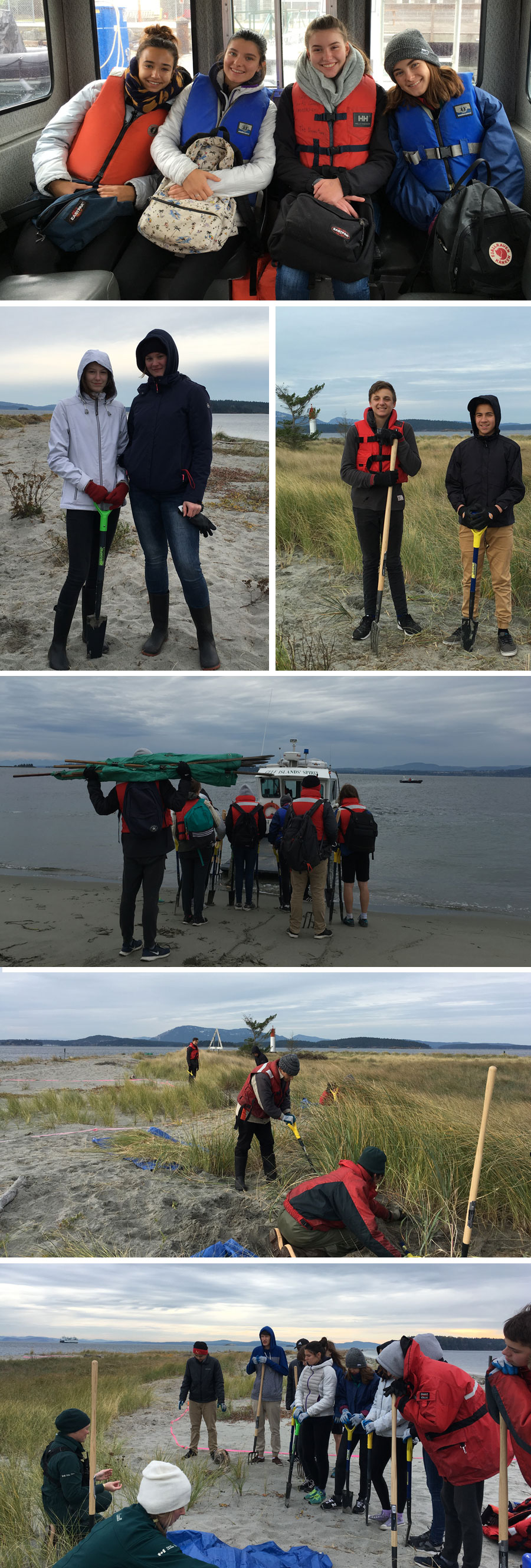 Marine 10 and Outdoor Ed 11 Classes Clean Up Sidney Spit