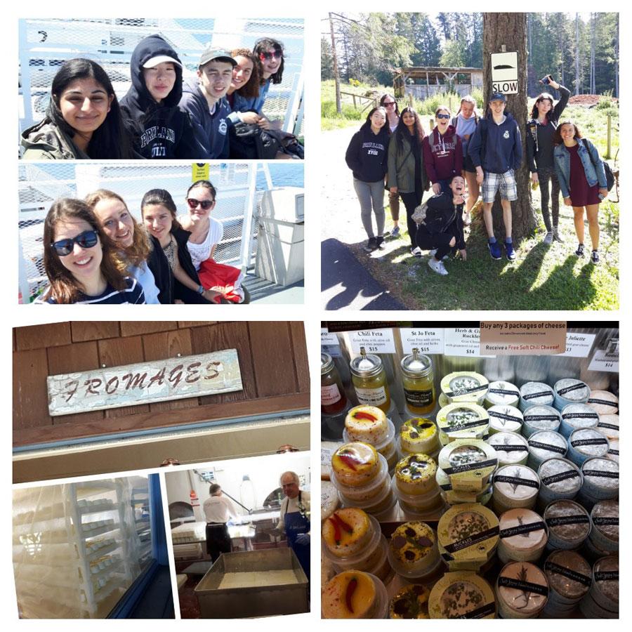 French Students Visit Saltspring Island