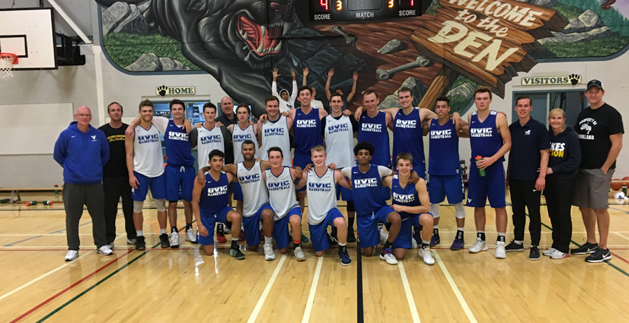 UVic Men's Basketball Team
