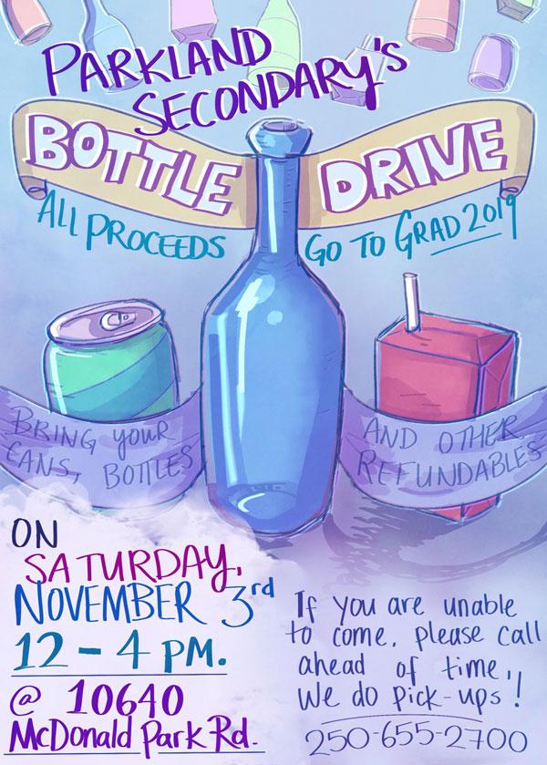 Grad Bottle Drive Poster